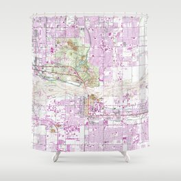 Vintage Map of Tempe Arizona (1952) Shower Curtain