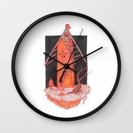 Orange cottage Wall Clock