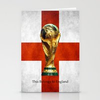 world cup Stationery Cards featuring World Cup by Rothko