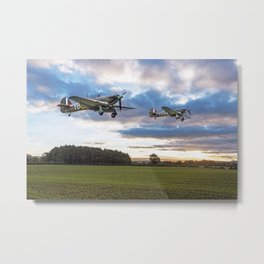 Hurricanes 17 Squadron Scramble Metal Print
