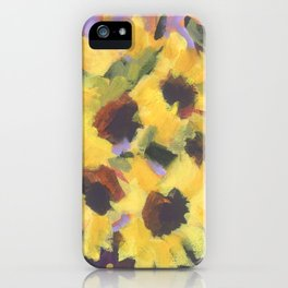 Golden Sunflower Bouquet iPhone Case