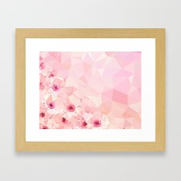 Pink Geometric Patter Framed Art Print