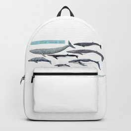 Happy world whale day Backpack