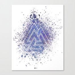 Viking Valknut Space Dust Canvas Print