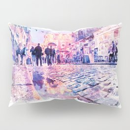 Dublin Watercolor Streetscape Pillow Sham