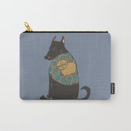 Black Dog in a Kitten Coat Carry-All Pouch