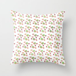 Three Fruit Combo Pattern Throw Pillow