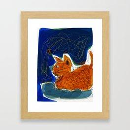 Socca Ginger Cat Art Framed Art Print