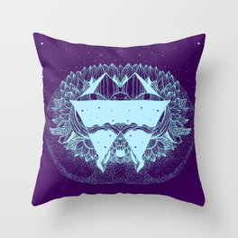 Some there out in the he space Throw Pillow