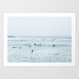 Tiny Surfers Lima, Peru 2 Art Print