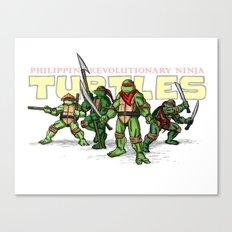 Philippine Revolutionary Ninja Turtles Canvas Print