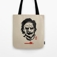 butcher billy Tote Bags featuring Butcher by pigboom el crapo