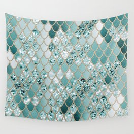 Mermaid Glitter Scales #3 #shiny #decor #art #society6 Wall Tapestry