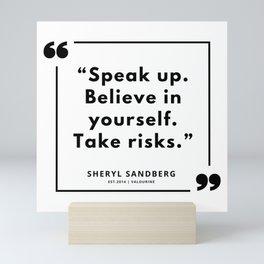 15  | Sheryl Sandberg Quotes | 190902 Mini Art Print