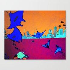 Manta Madness Canvas Print