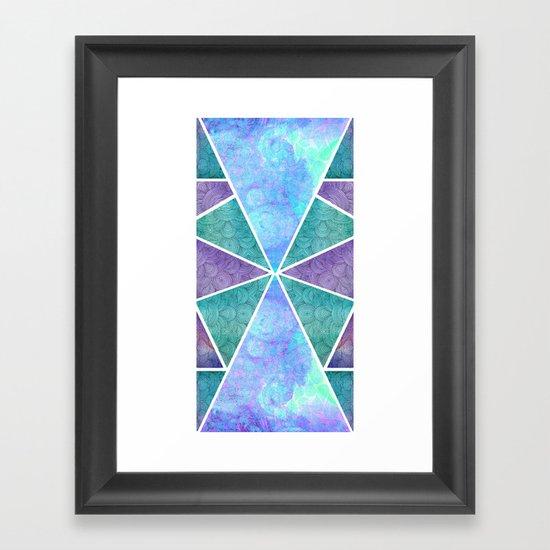 Geometric Reflection Framed Art Print