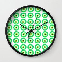 Evil Eye Amulet Talisman in Green Wall Clock