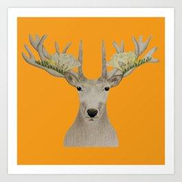 Botanic Deer Art Print