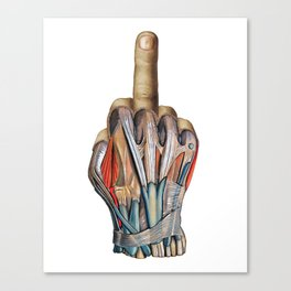 One Finger Salute Canvas Print