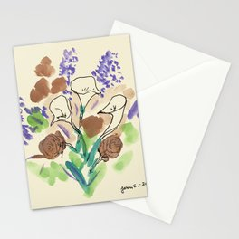 Bouquet of Calla Lillies by John E. Stationery Cards