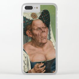 A Grotesque old woman by Quentin Matsys 1513 Clear iPhone Case