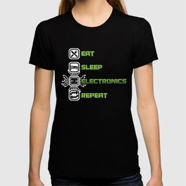 Eat Sleep Electronics Repeat Devices Transistor Digital Circuits Appliances Gift T-shirt