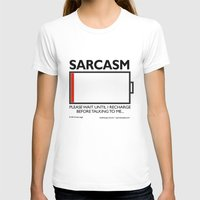 sarcasm T-shirts featuring sarcasm recharge by squirrelosophy
