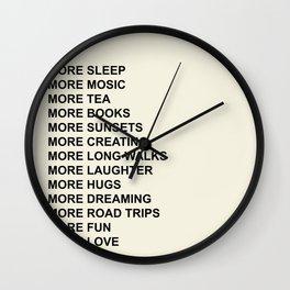 MORE Wall Clock