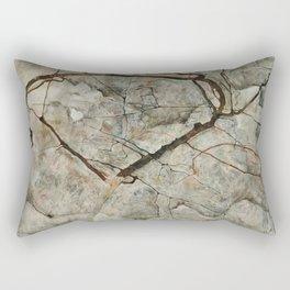 Egon Schiele - Autumn Tree in Stirred Air (Winter Tree) Rectangular Pillow