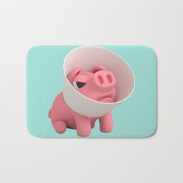 Rosa the Pig and Cone of Shame Bath Mat