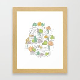 Home is Where My Plants Are Framed Art Print