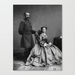 General Custer and His Wife Libbie Canvas Print