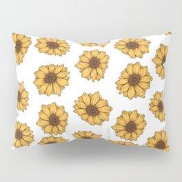 lil' anxious sunflowers Pillow Sham
