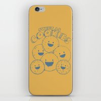 cookies iPhone & iPod Skins featuring Cookies by Artificial primate