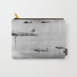 US Air Force Planes Dropping Bombs Over Germany - 1945 Carry-All Pouch