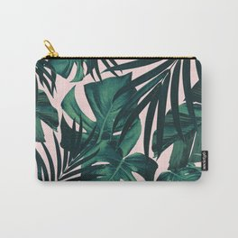Tropical Jungle Leaves Pattern #5 #tropical #decor #art #society6 Carry-All Pouch