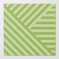 Geo greenery Canvas Print