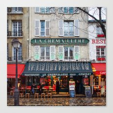 Streets of Paris Canvas Print