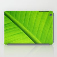 banana leaf iPad Cases featuring Upclose Banana Leaf by Erin Mac Photography