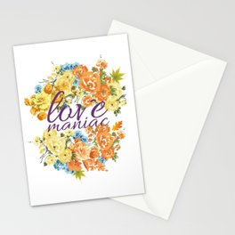 Love Maniac Floral Stationery Cards