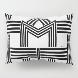Black and White M Pillow Sham