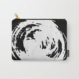 Whorl Black and White Carry-All Pouch