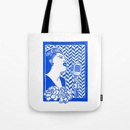Lady Day (Billie Holiday block print) Tote Bag