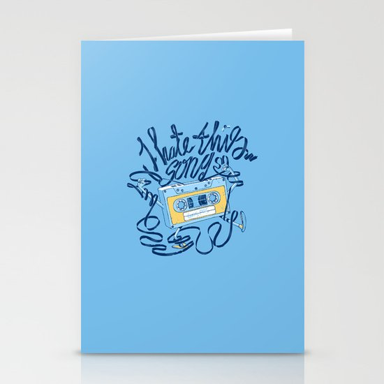 Sad song Stationery Cards