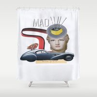 mad Shower Curtains featuring mad by fromdelphine