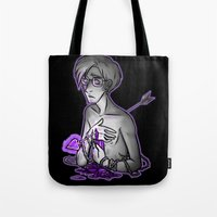 asexual Tote Bags featuring Ace of Spades by Kieran Thompson