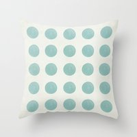 polka dots Throw Pillows featuring Polka Dots by Juste Pixx Designs
