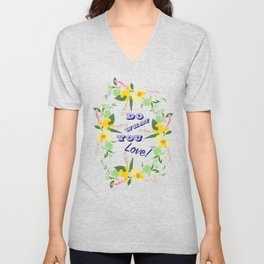 Do What You Love Typography Illustrated Print Unisex V-Neck