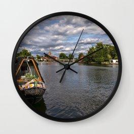 The River Thames At Marlow Wall Clock