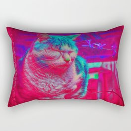Zen Kitty Rectangular Pillow